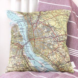 Personalised UK Destination Map Cushion