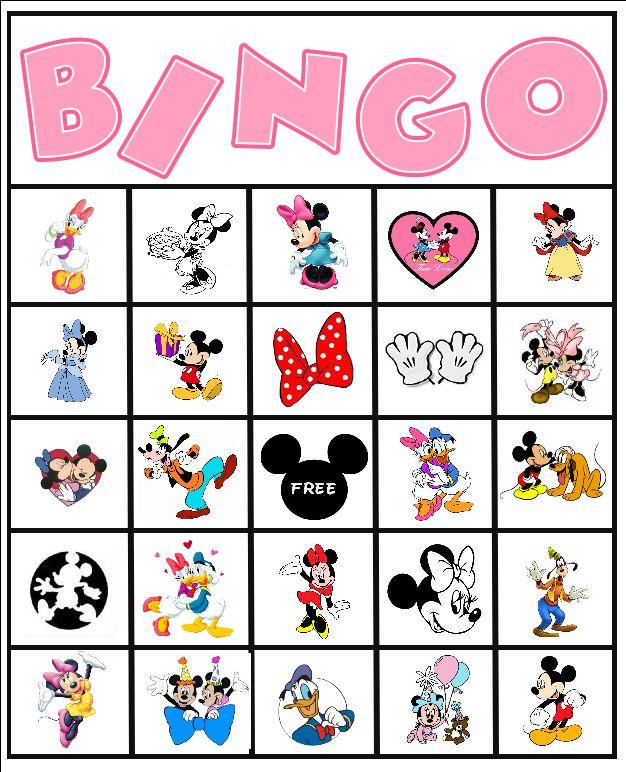 Free Minnie Mouse Disney Bingo Party Printable #free #bingo #minnie