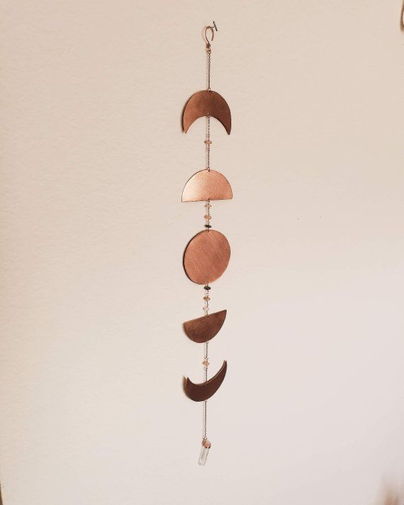 Moon Phases Wall Hanging This Handcrafted Copper Moon Phases Wall Hanging Was Created As An Ideal Home Decoration For T Copper Wall Art Wall Hanging Moon Decor