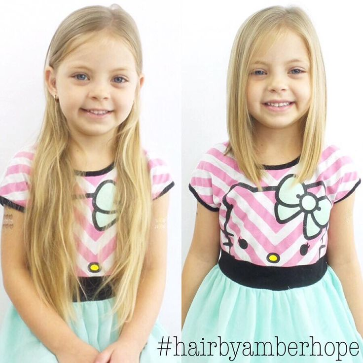 This beauty was so excited to donate her hair and get her first big girl haircut!