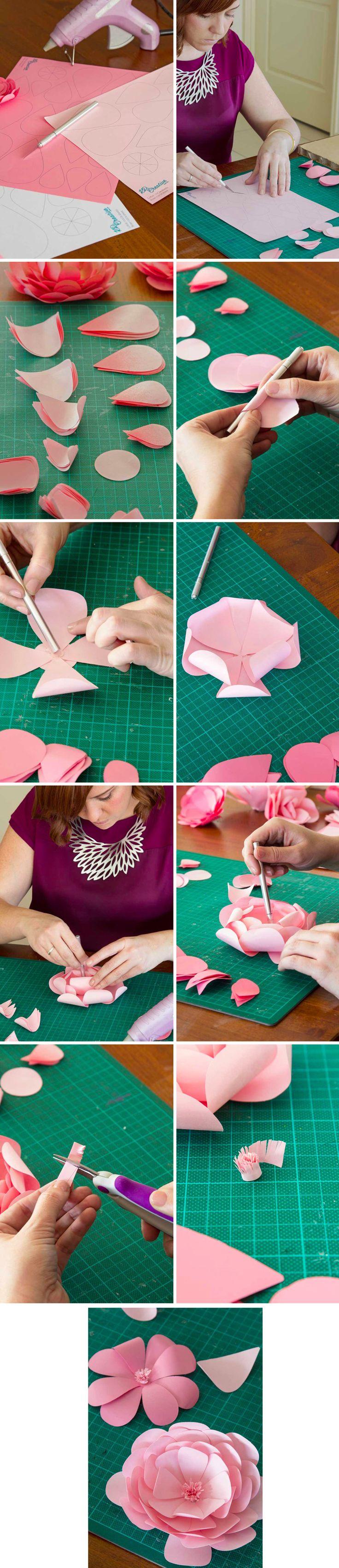 Lindas flores de papel DIY / https://www.modernwedding.com.au