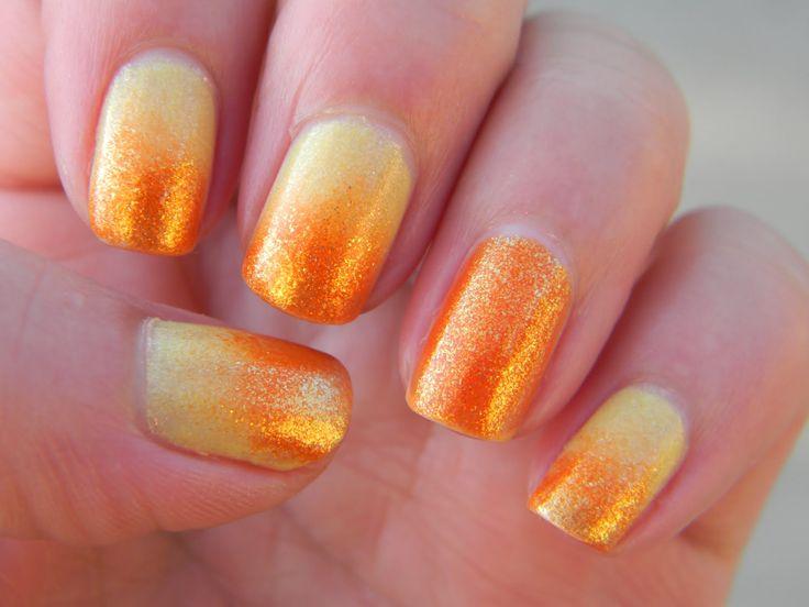55 Most Beautiful Orange Nail Art Design Ideas - The 25+ Best Orange Nail Art Ideas On Pinterest Orange Nail