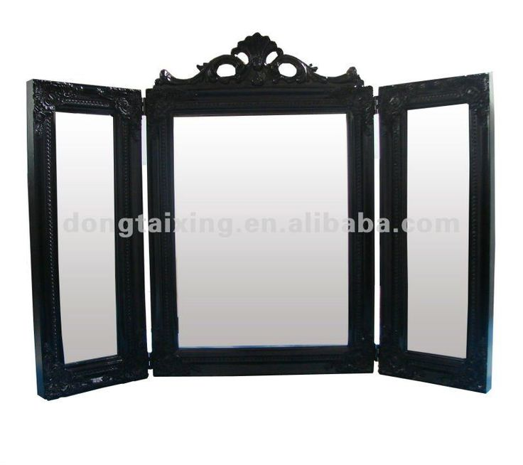 3 Way Mirror Table Stand Up Mirror Classic Wooden Folding Mirror