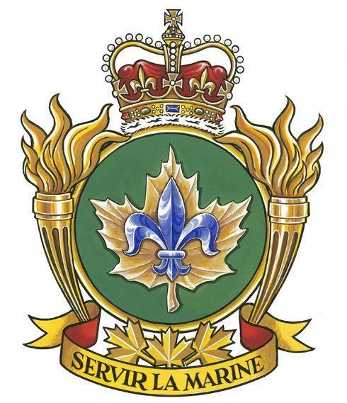 Insigne de l'École navale des Forces canadiennes Québec