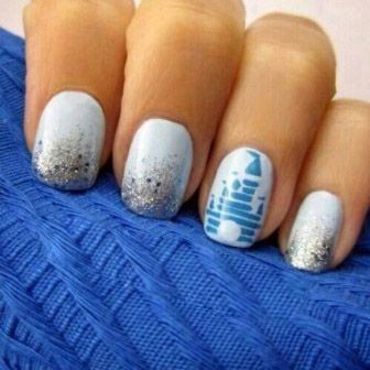 Disney Logo Nails. at first I thought it was R2-D2