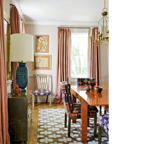 Angie Hranowsky Interior Design Dining Room With Orange Sorbet And Turquoise Ethnic Boho
