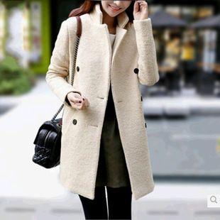Женское Весенне-осеннее пальто в корейском стиле, из овчины. Подробнее в нашем онлайн магазине http://youth-gallop.net/goods.php?id=398