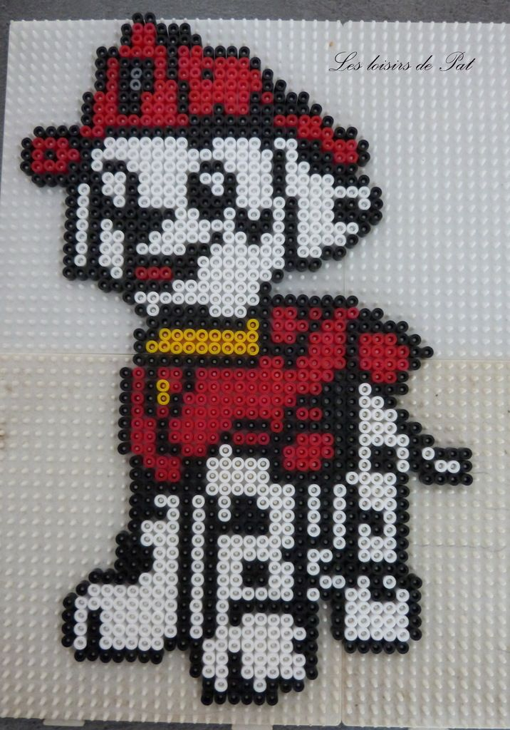 Marshall - PAW Patrol hama perler beads by les Loisirs de Pat - Pattern: https://de.pinterest.com/pin/374291419012694996/