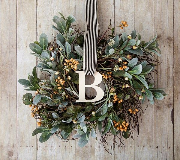How are YOU changing up your old décor? Take a look at how we changed a Chrismas wreath into a beautiful monogramed wreath that is worthy of being hung up all year round!