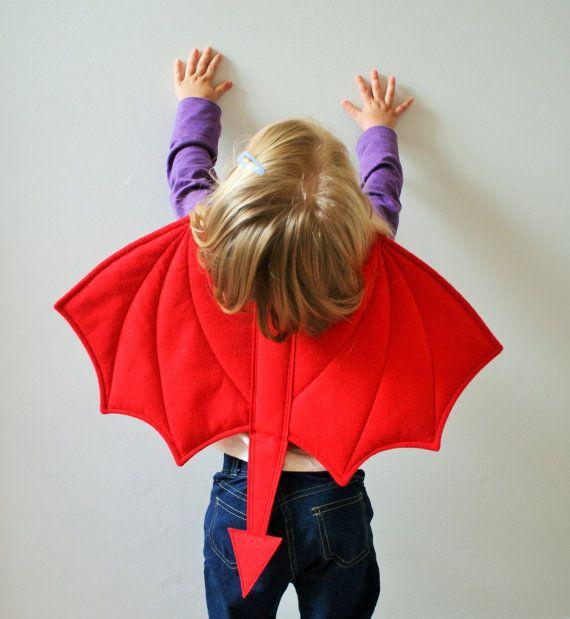 Children's Devil Wings Kids Devil Tail Halloween