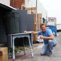 Bryce finds success dumpster diving in Hermosa Beach, California...