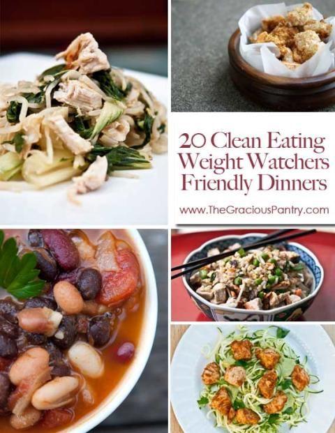 20 clean eating weight watcher s friendly dinners clean - Plat cuisine weight watchers ...