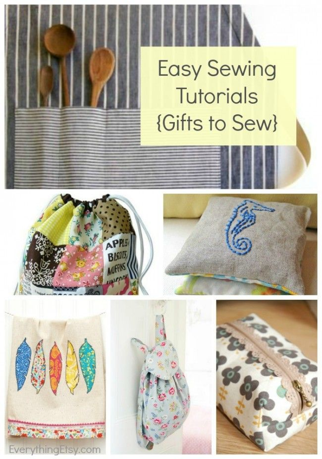 21 Easy Sewing Tutorials {Gifts to Sew} - EverythingEtsy.com #sewing #patterns