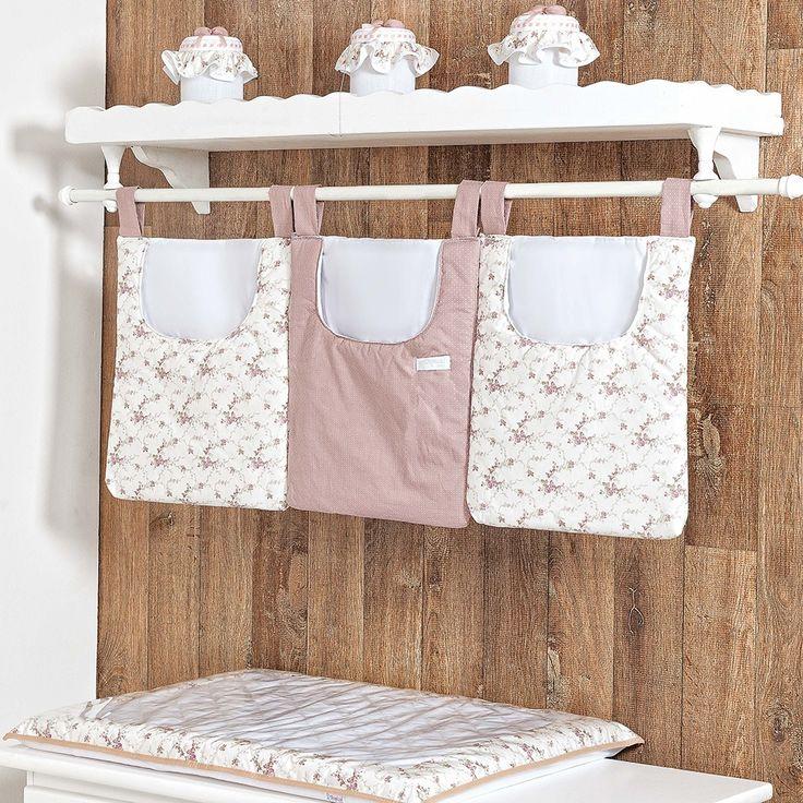 Quarto para Bebê Charlotte Floral Rosê | Grão de Gente