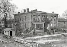 """April 1937. Shawneetown, Illinois. """"An old residence near the levee after the flood."""" Photo by Russell Lee for the Resettlement Administration. Shorpy Historic Picture Archive"""