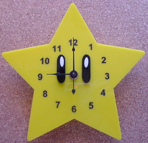 Super Mario Star clock by TheobaldGraphics on Etsy, $35.00