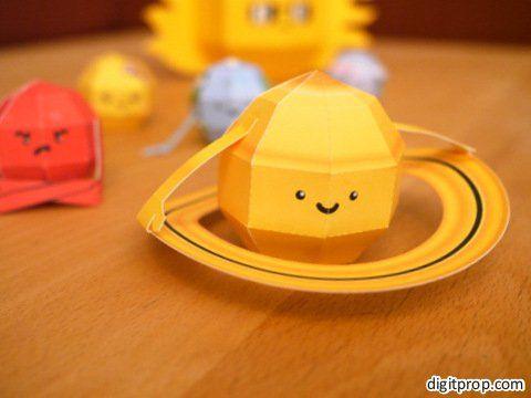 Free printable solar system paper craft!