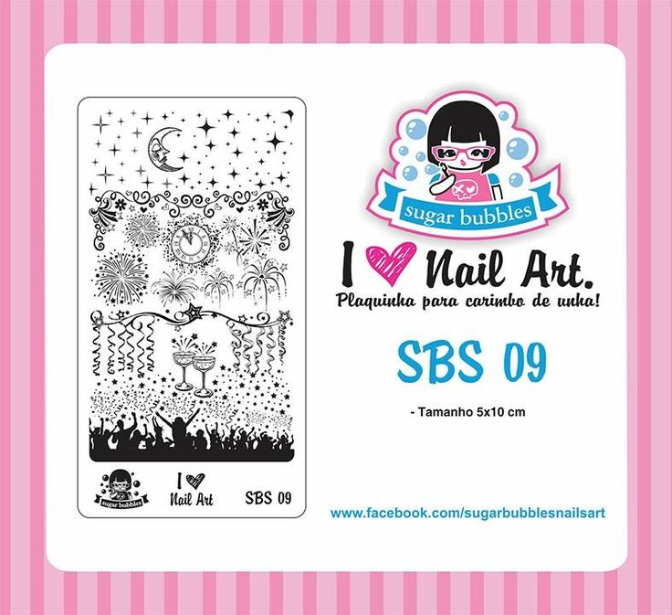 Small Nail Art Stamping Plate Sugar Bubbles SBS 09