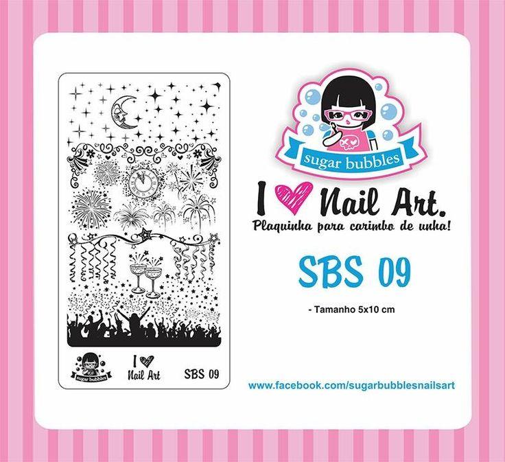 Small Nail Art Stamping Plate Sugar Bubbles SBS 09