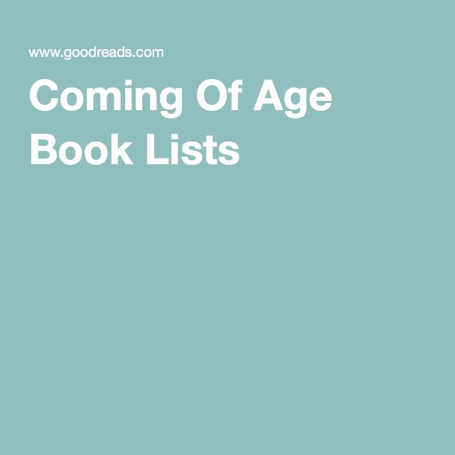 Coming Of Age Book Lists