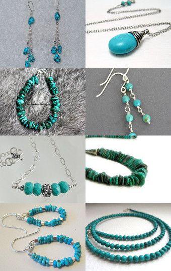 Beautiful collection of genuine Turquoise handmade jewelry.
