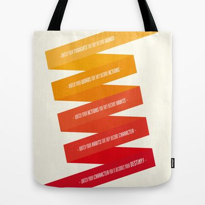 Watch your destiny... Tote Bag by Spyros Athanassopoulos - $22.00  #totebags #quote #bag #fabric
