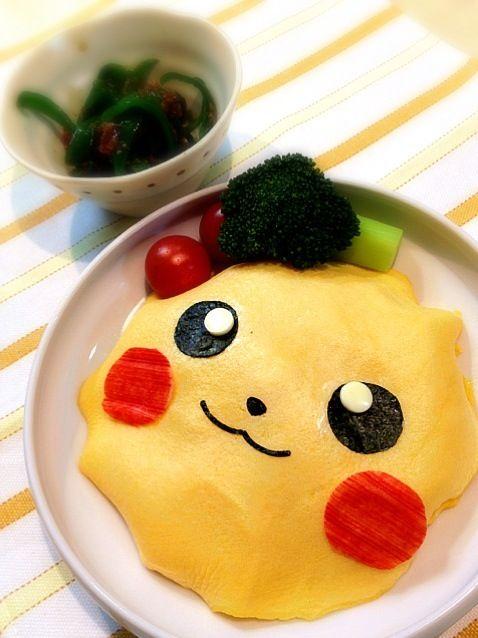 pikachu omelet rice