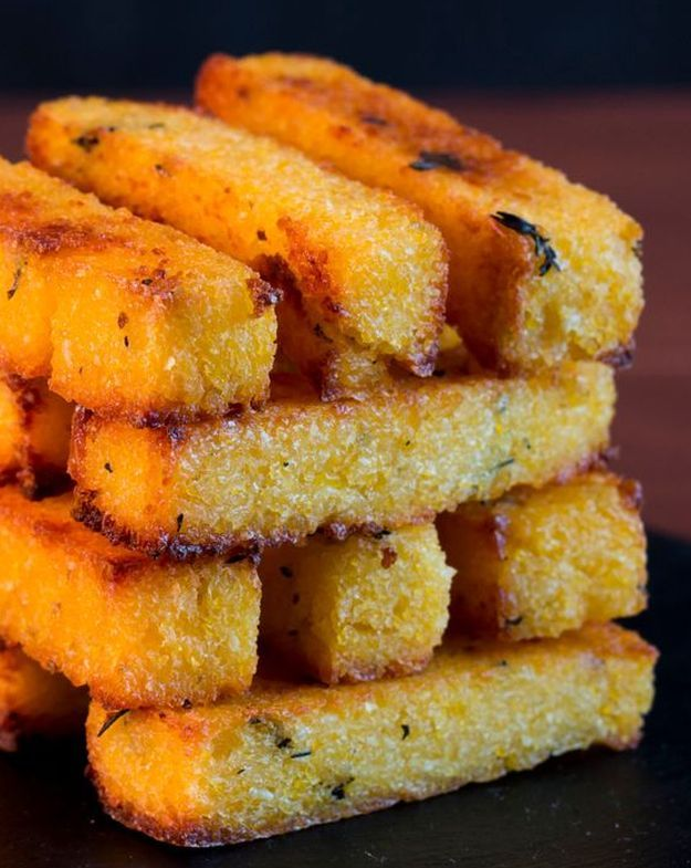 Baked Polenta Fries With Garlic Aioli | 12 Healthy Baked Fries Recipes For National French Fry Day
