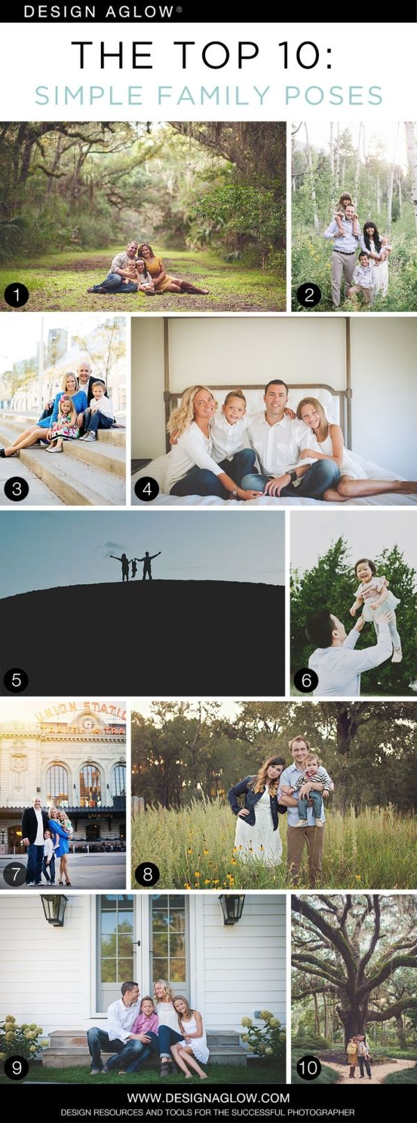 The Top 10: Simple Family Poses #designaglow by sophie