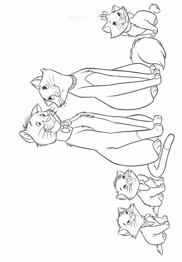aristocats toulouse coloring pages - photo#40