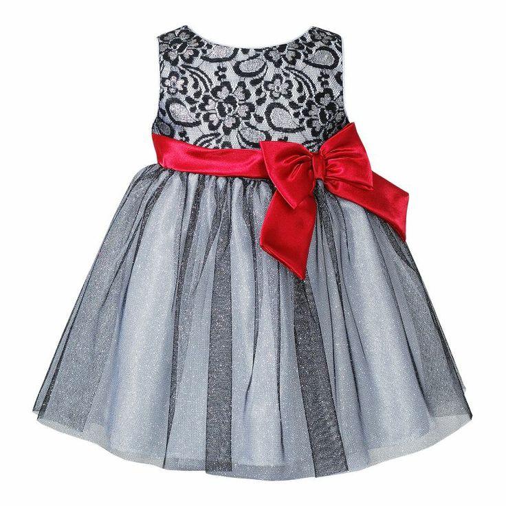 Jcpenney Youngland 174 Metallic Lace Dress Girls 3m 12m