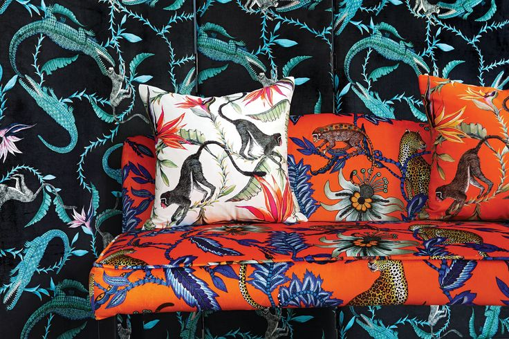 Silks and velvets from our Zambezi Collection