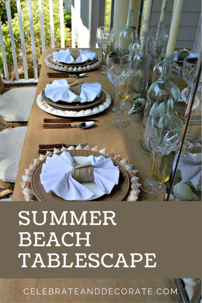 Summer Beach Tablescape