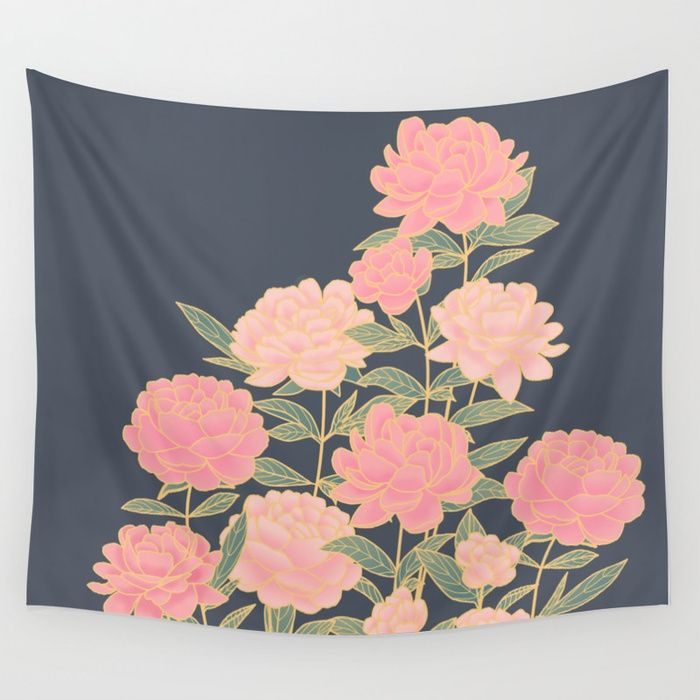 Buy Pink peonies vintage pattern Wall Tapestry by martaolgaklara. Worldwide shipping available at Society6.com. Just one of millions of high quality products available.