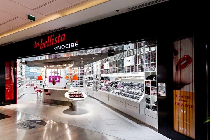 Вызывающий дизайн брендового магазина косметики Les Bellista