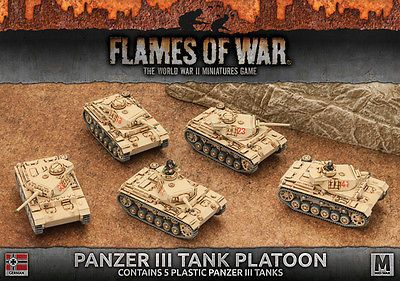 Flames of War 113523: Flames Of War - German: Panzer Iii Tank Platoon (Plastic) Gbx96 -> BUY IT NOW ONLY: $40.49 on eBay!
