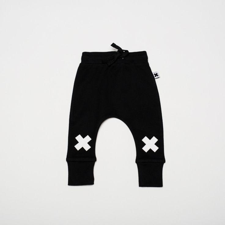 Wear Kids Play - Huxbaby | Black X Drop Crotch Pant, $39.95 (http://www.wearkidsplay.com.au/products/huxbaby-black-x-drop-crotch-pant.html/)