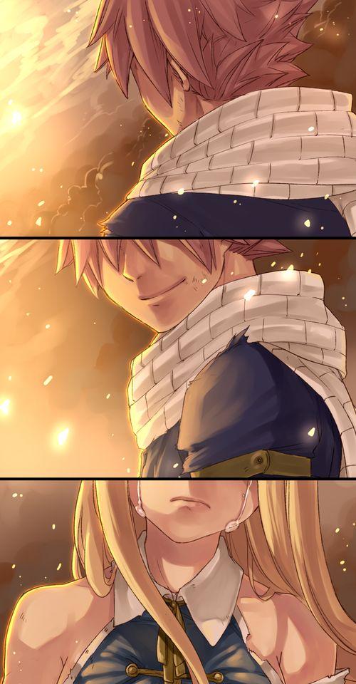 Natsu y Lucy del futuro donde dominaron los dragones...