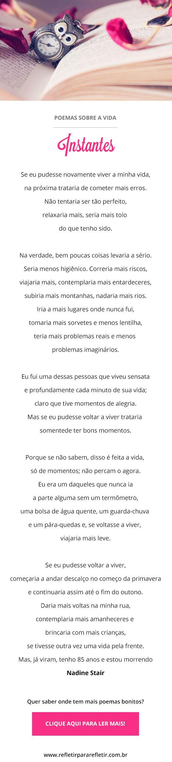 Poemas inteligentes de reflexão, para pensar na vida e refletir :) #poema #poemas #reflexão #vida