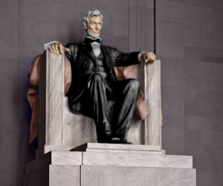 Lincoln emlékmű,színezve.
