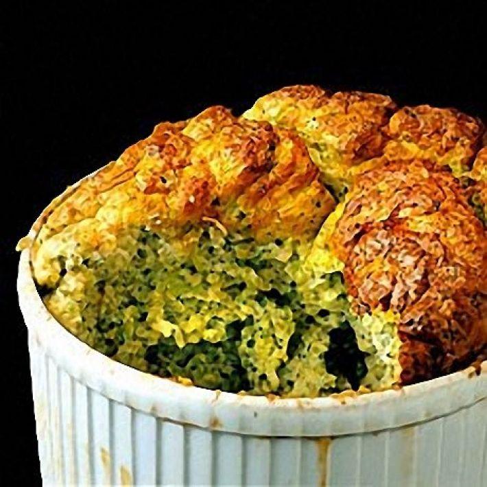 A picture of Delia's Broccoli Souffle with Three Cheeses recipe