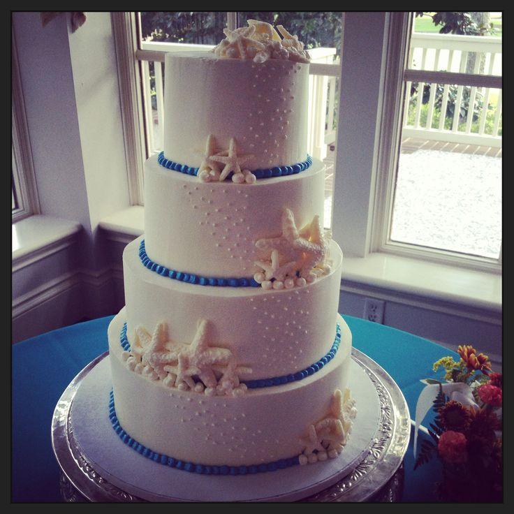 Gâteau de mariage Thème: Bord de mer  Pâtisseries :)  Pinterest