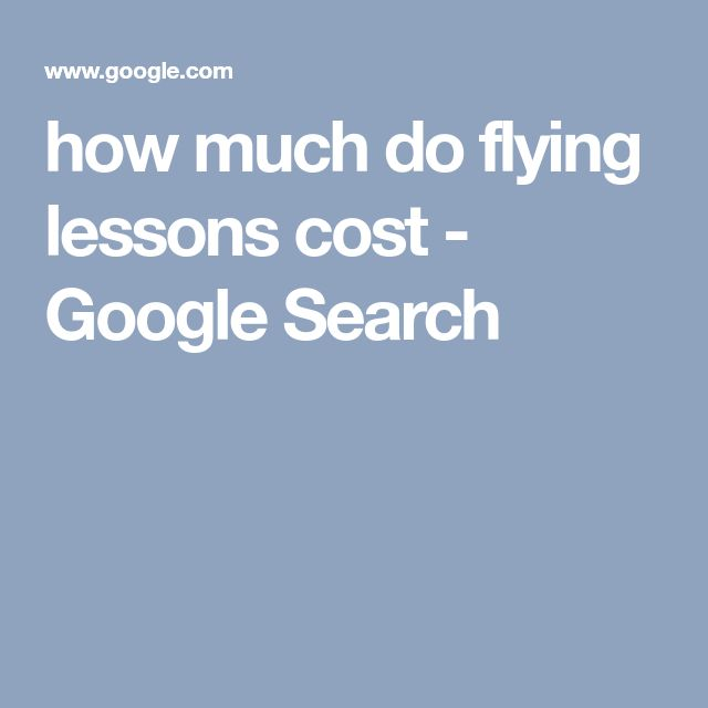 how much do flying lessons cost - Google Search
