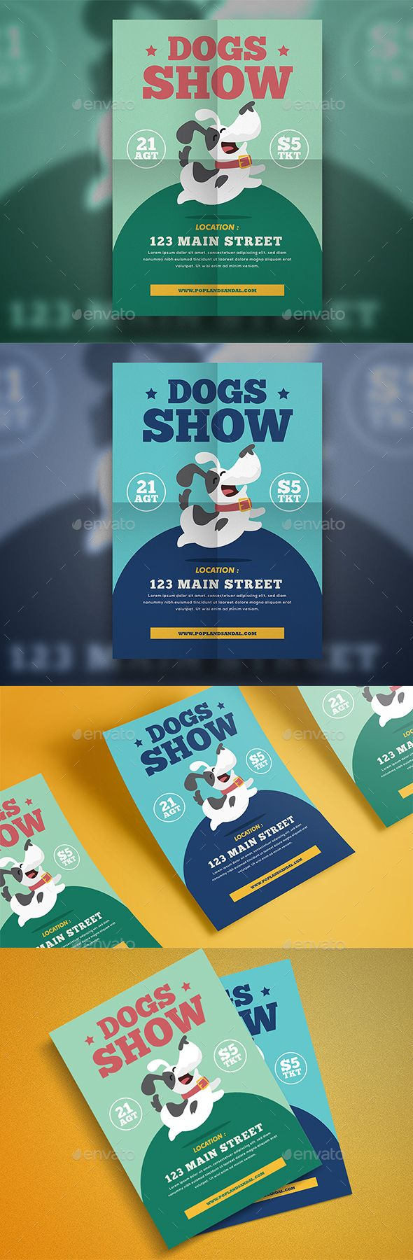Dog #Show #Flyer - Events Flyers Download here: https://graphicriver.net/item/dog-show-flyer/19748756?ref=alena994