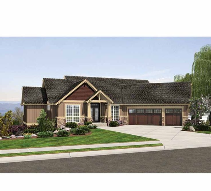 Best Floor Plans Images On Pinterest Floor Plans Home Plans - Contemporary craftsman ranch house plan