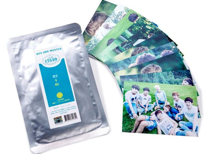 BTS Official MD ZipCode 17520 Live Photo D Set ( V + All ) Sealed Bangtan Boys