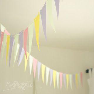 narozeninová girlanda / DIY birthday garland