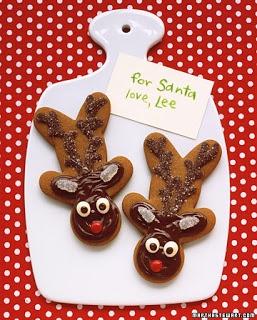 Reindeer cookies using Gingerbread Man shape.