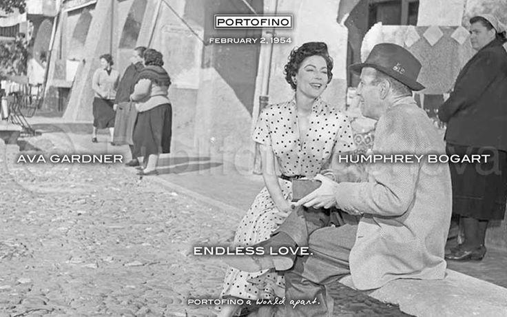 AVA AND HUMPHREY, ENDLESS LOVE IN PORTOFINO (1952)