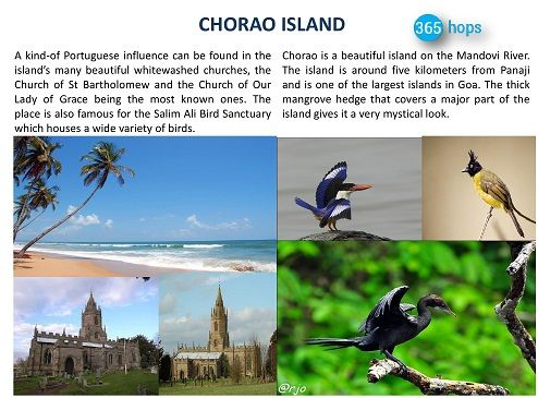 CHORAO ISLAND >> #Chorao is a beautiful #island on the Mandovi River. The island is around five kilometers from #Panaji and is one of the largest islands in #Goa.   #365hops #churches #BirdSanctuary